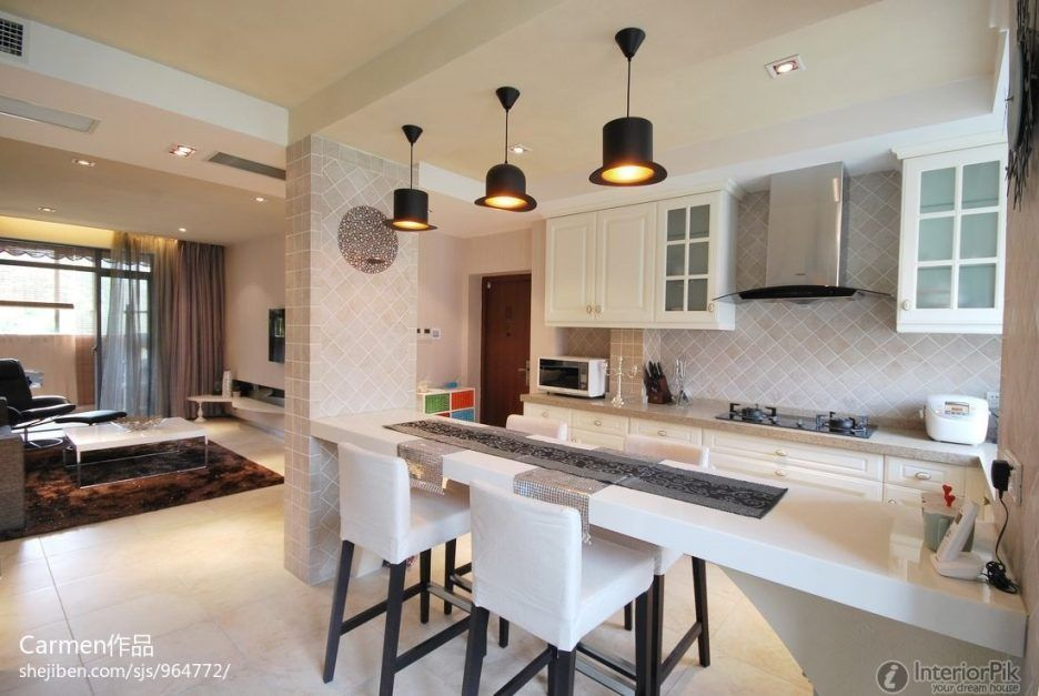 KitchenHow To Decorate An Open Kitchen With Living Room Open
