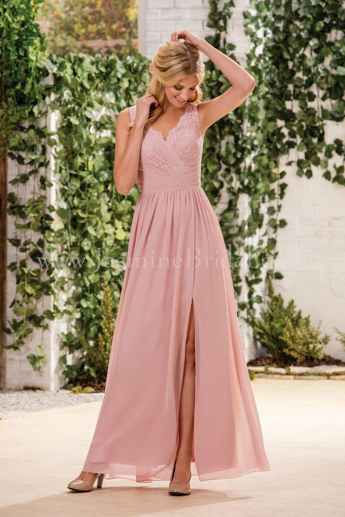 Jasmine Bridal Bridesmaid Dress B2 Style B183060 in Misty Pink ...