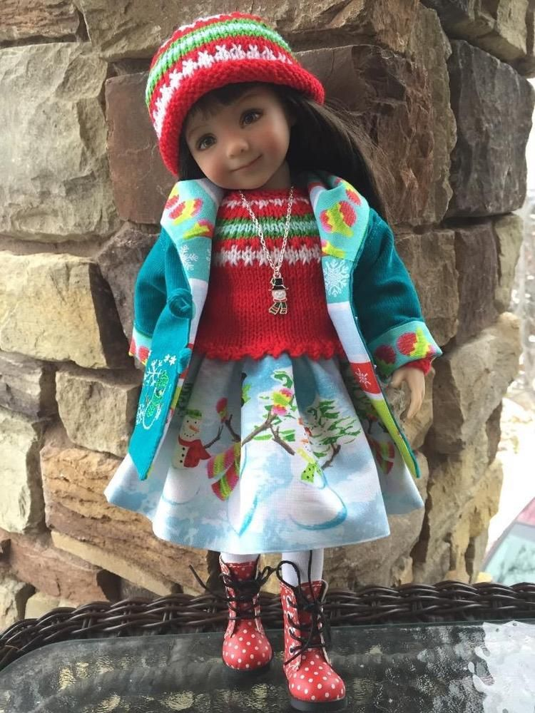 ~FROSTY FRIENDS! by Tuula fits Dianna Effner 13 Little Darling to a t !