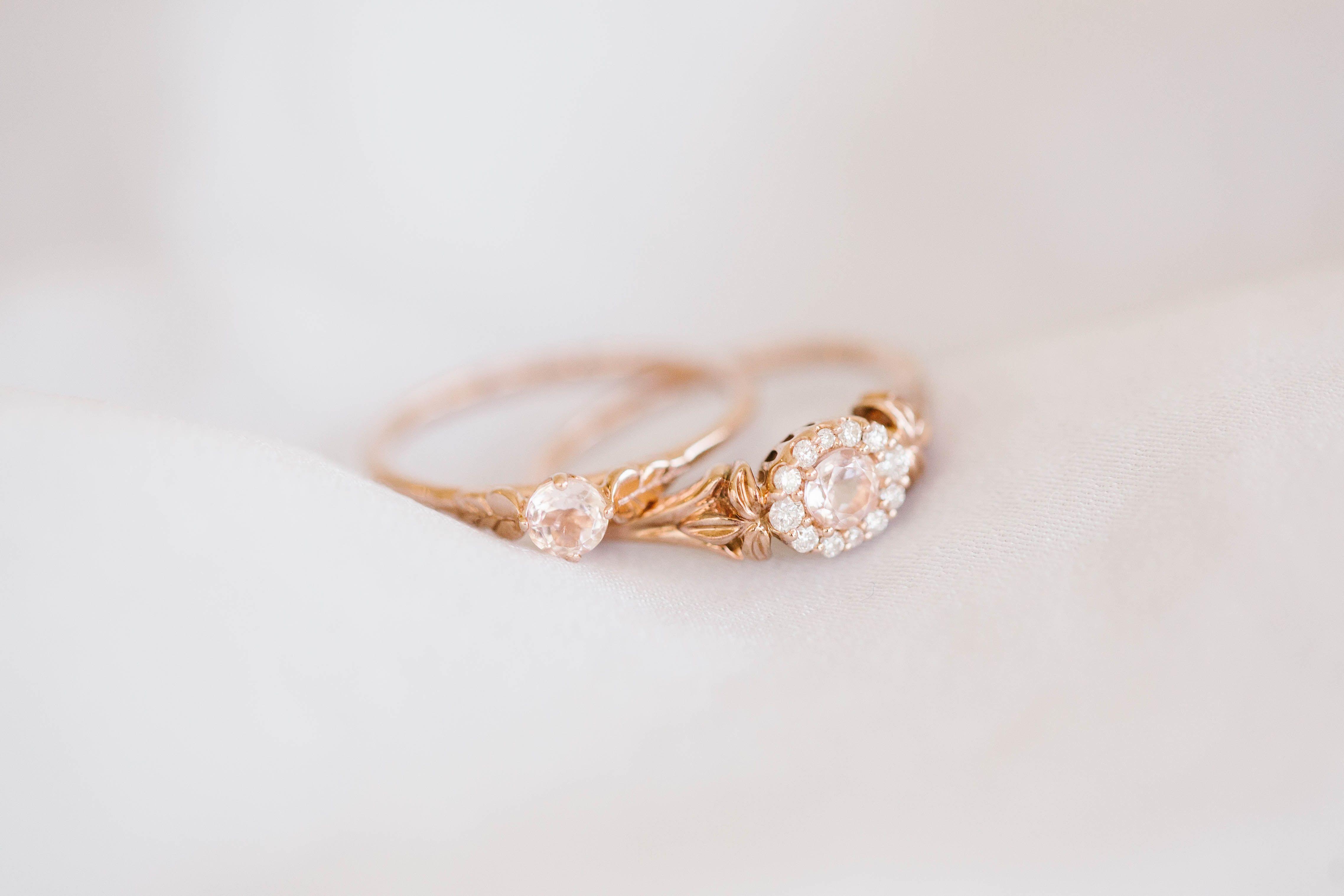 73ce04c5cb0 LC Lauren Conrad 10k Rose Gold Morganite & 1/8 Carat T.W. Diamond ...