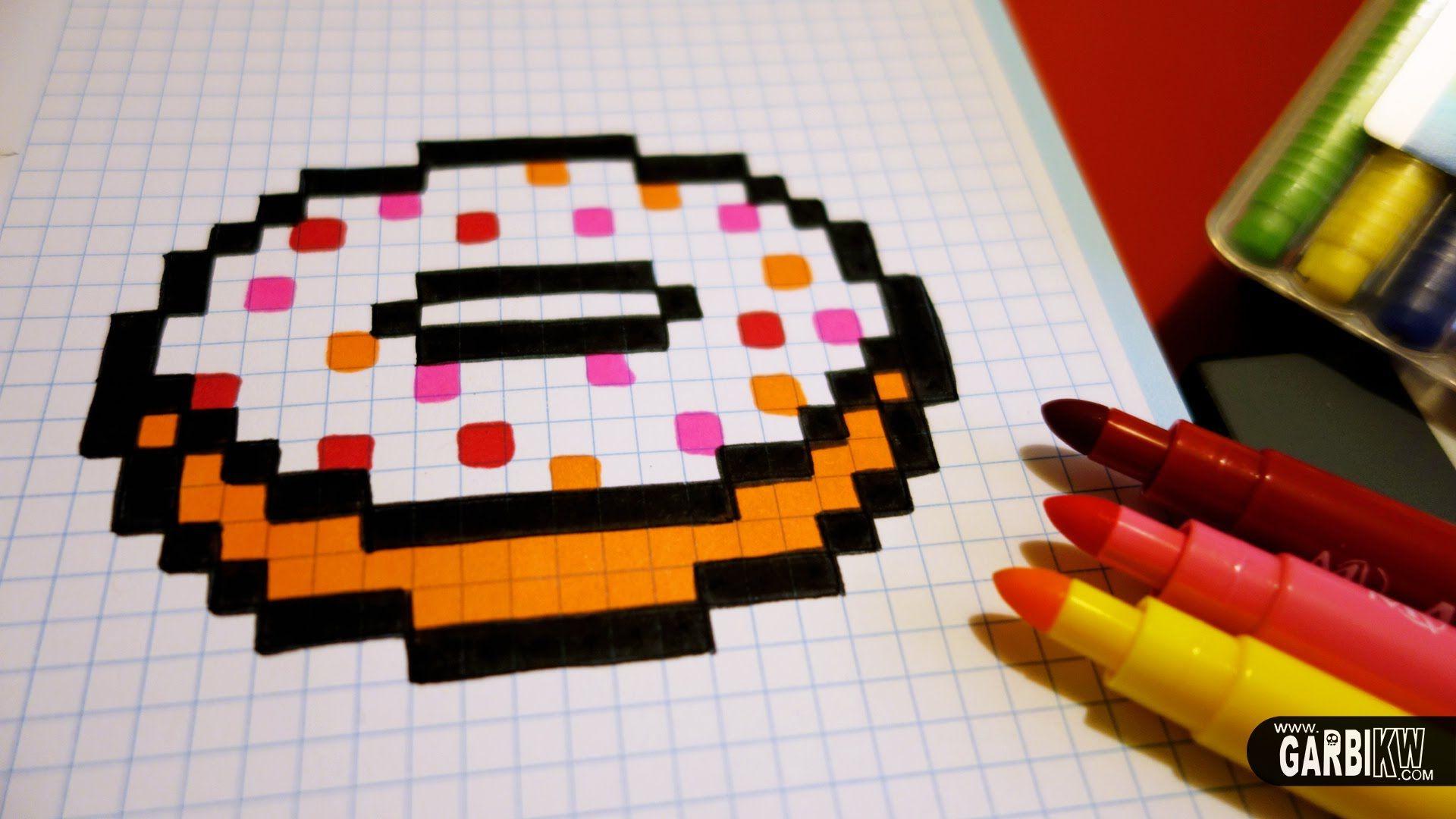 Handmade Pixel Art How To Draw A Kawaii Donut By Garbi Kw