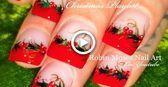 DIY Easy Xmas Nails   Christmas Red Holly Berry Nail Art Design Tutorial   holid...