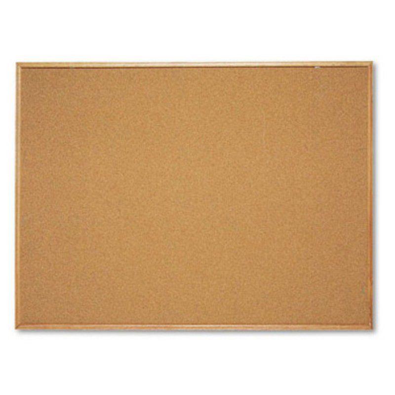Quartet 48 x 36 in. Cork Bulletin Board with Natural Cork Frame ...