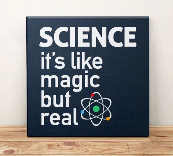 Science Canvas Art Print, Science Teacher Gift for Scientist, Science Classroom Decor, Dorm Room, Dorm Wall Hanging, Like Magic But Real #scienceclassroom