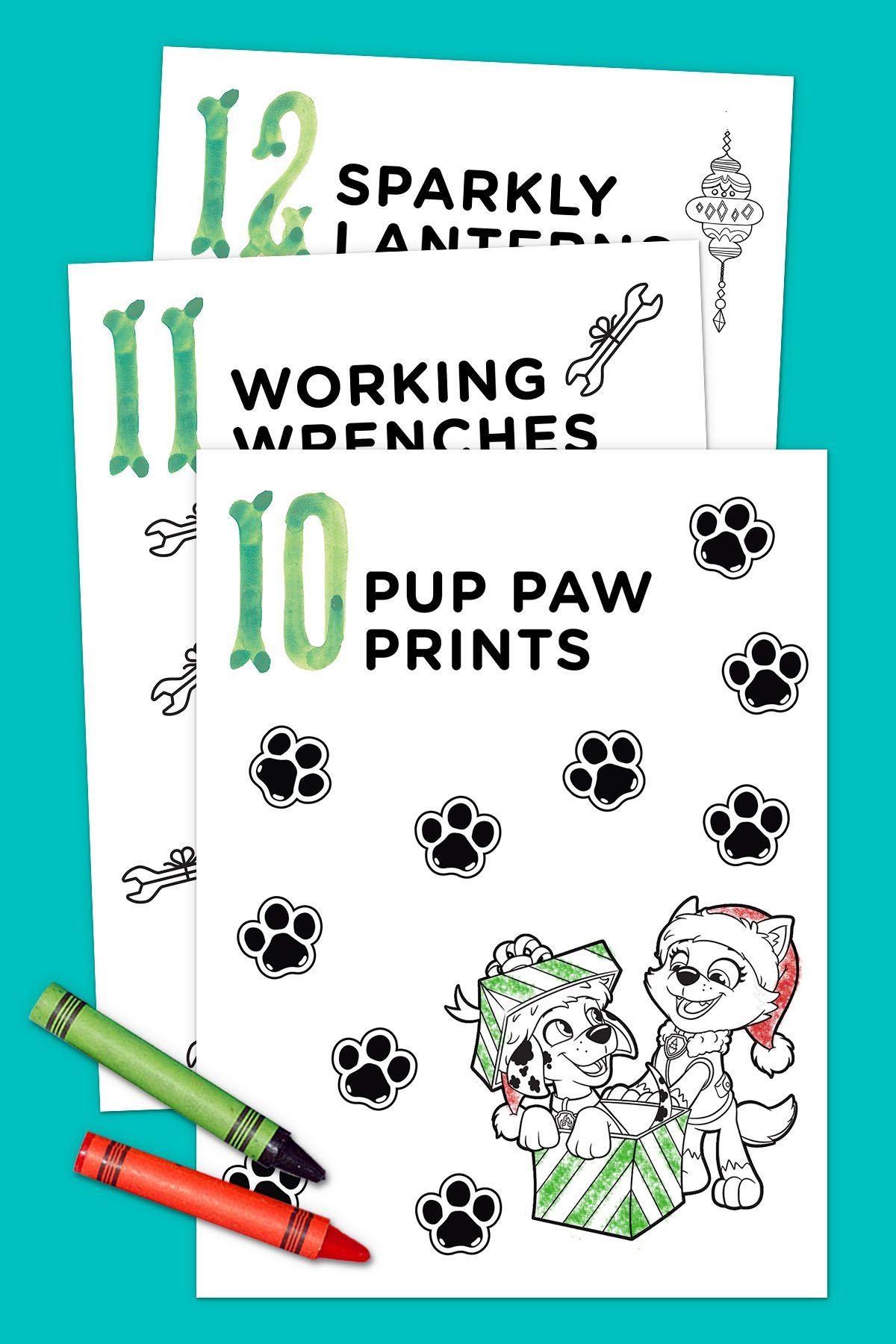 12 Days of Nick Jr. Coloring Book | Nick jr, Paw patrol christmas ...