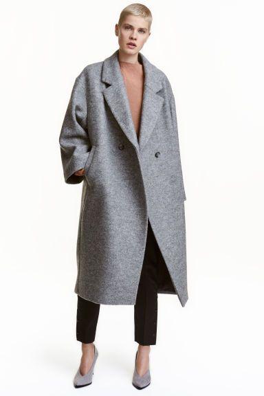 Manteau oversize en laine   mode en gris   Manteau, Manteau oversize ... 9fed899c40b2