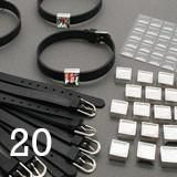 Black Silicone Photo Slide Charm Bracelet Fundraiser Kit Makes 20 Complete Bracelets
