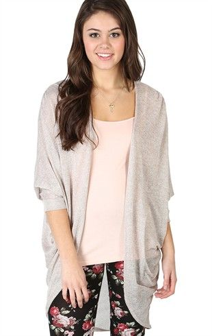 Deb Shops Long Sleeve Marled Duster #Sweater $13.93