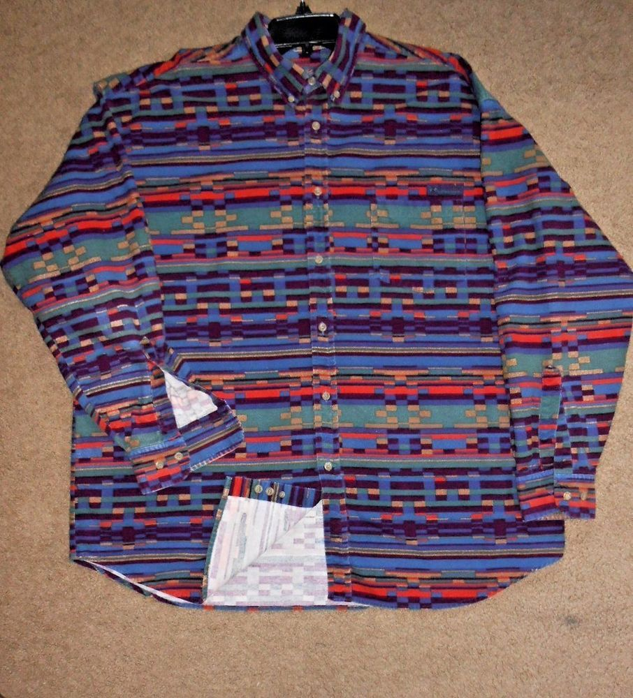 Columbia flannel jacket  Men Shirt Warm Size XL flannel Long slv Pocket Button up Outfit
