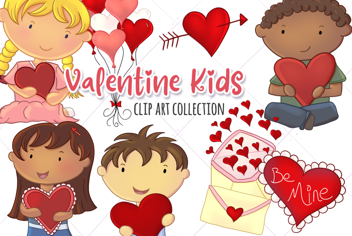 Cute Valentine S Day Graphic By Keepinitkawaiidesign Creative Fabrica Valentines For Kids Clip Art Kids Clipart