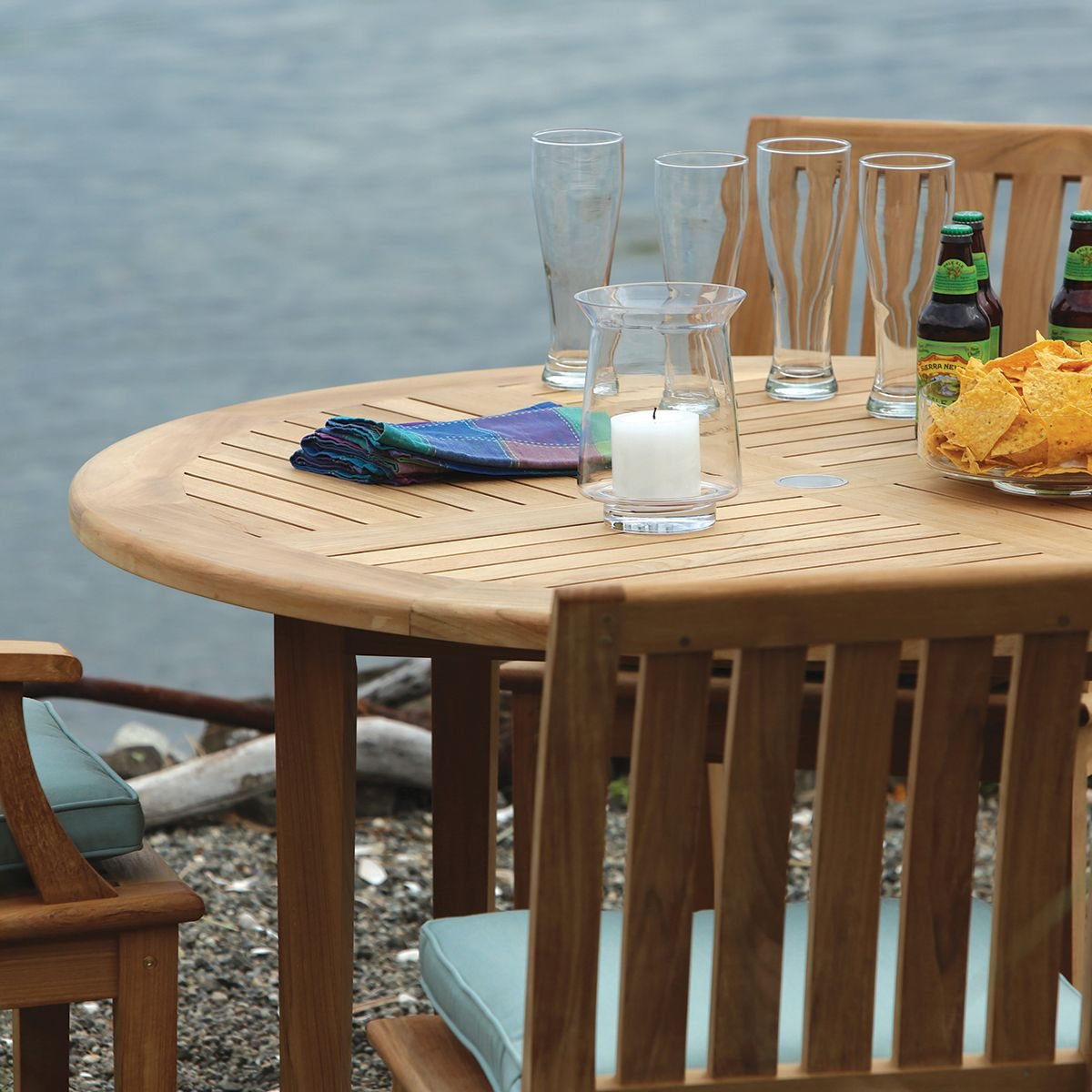 Veranda 5pc Dining Set Outdoor Dining Set Teak Dining Table Round Dining Table