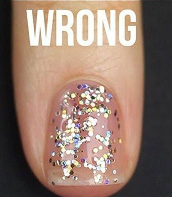 This Beauty Hack Just Made Glitter Nails So Much Easier To Diy