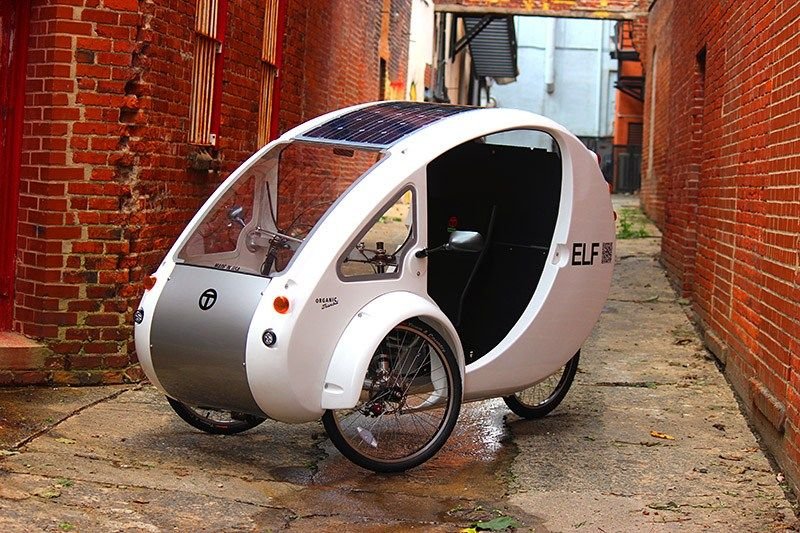 The Elf Solar Powered Car Bike Goes 48 Miles Per Charge Further If You Pedal Solar Powered Cars Bike Solar Car