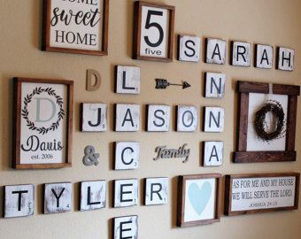 Scrabble Tile Wall Decor Large Scrabble Tiles Scrabble Wall Art Personalized Scrabble