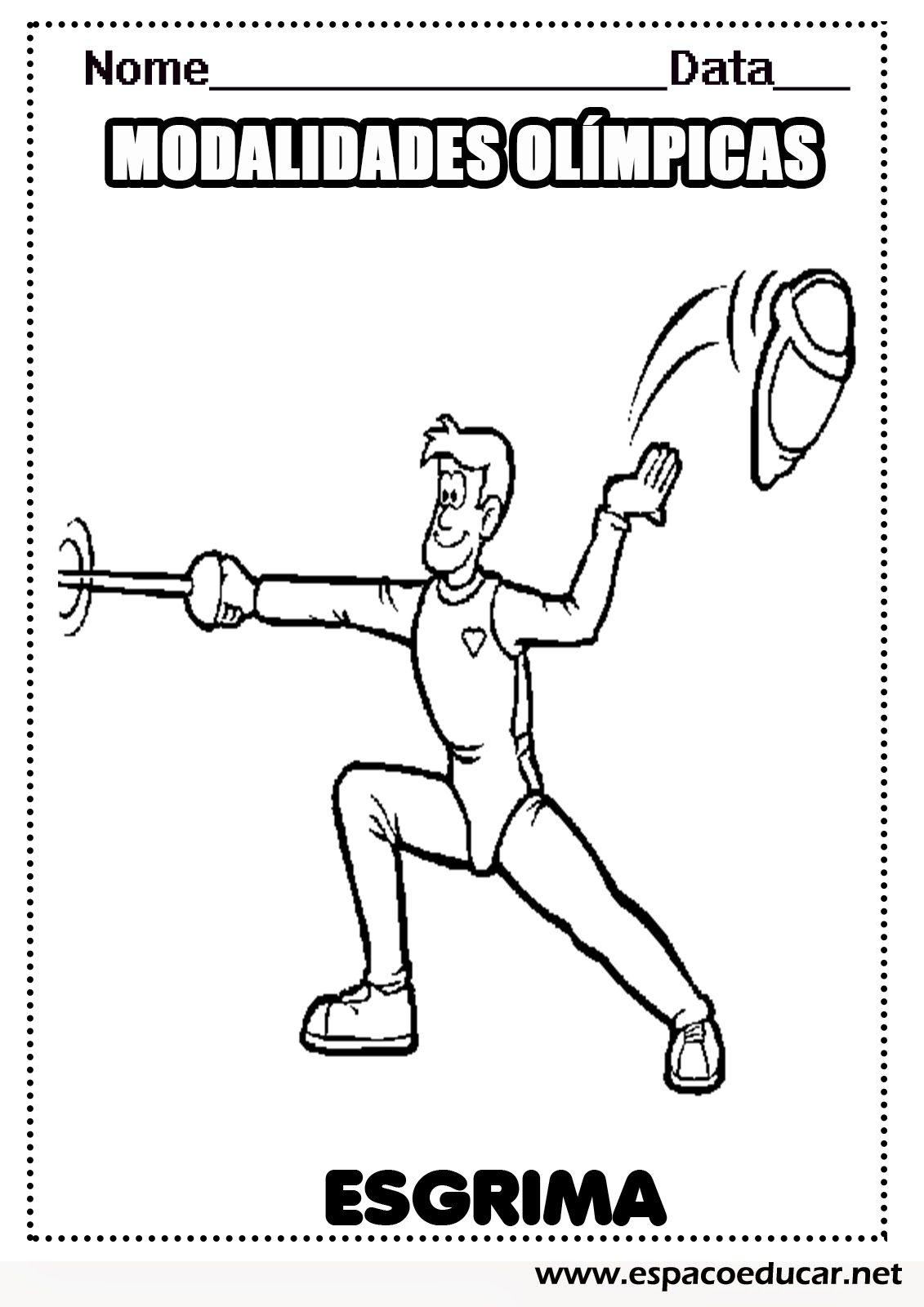 Esgrima Desenhos Das Modalidades Esportivas Das Olimpiadas Para