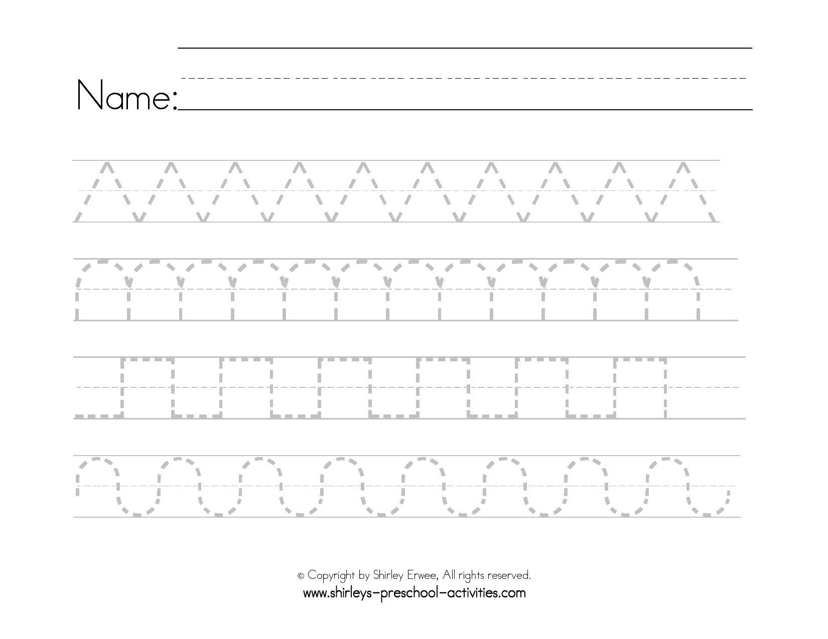 Abc Practice Worksheets For Kindergarten