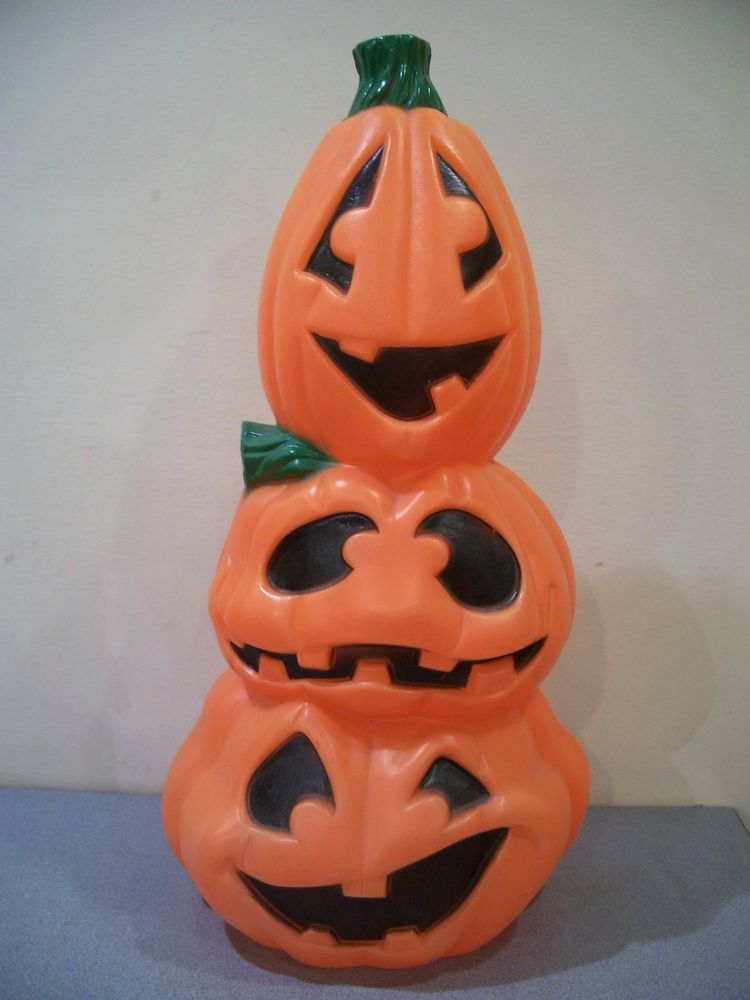 W Blow Mold Yard Decor Halloween Pumpkin Stack Jack O