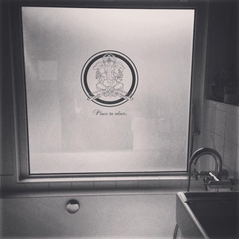 Raamfolie Ganesha. Nieuwe raamfolie in de badkamer! Wil jij ook zo\'n ...