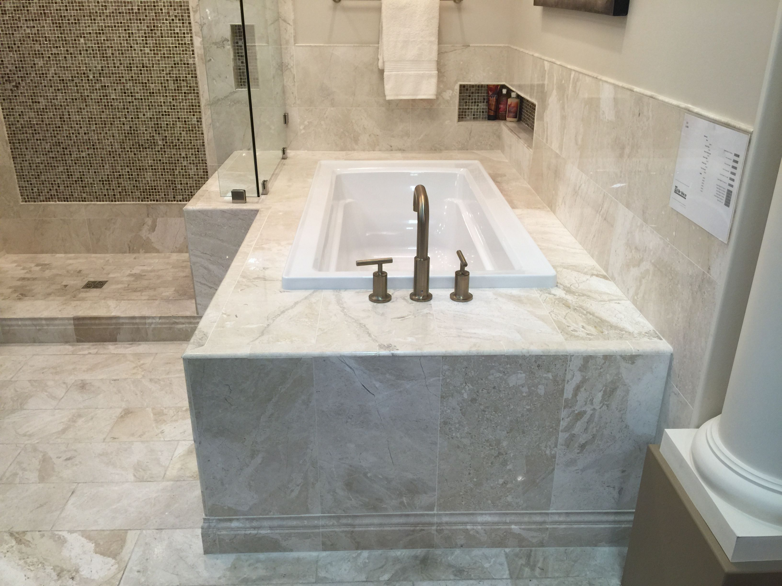 Drop in tub with tile surround. | Bathrooms Remodel | Pinterest ...