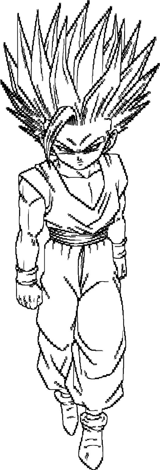 Super Saiyan 2 Gohan Youth Lineart By Brusselthesaiyan On Deviantart Dragon Ball Artwork Dragon Ball Super Manga Dragon Ball Super Art
