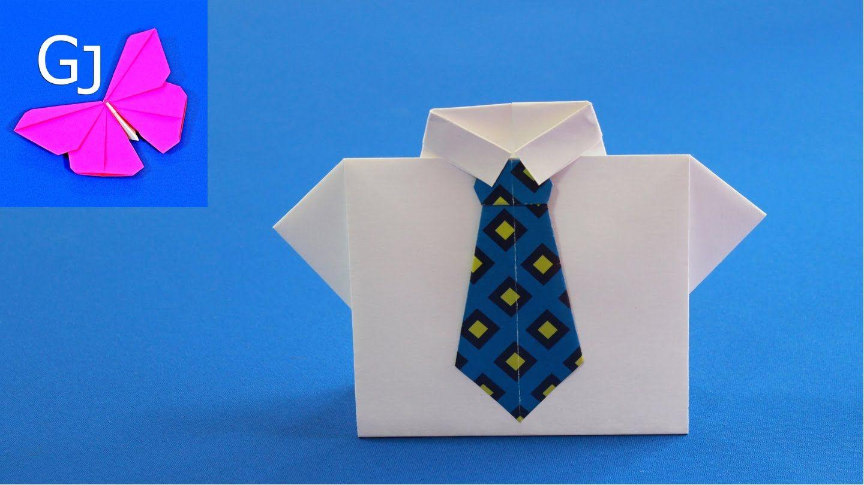 Открытка оригами на день рождения рубашка, открытки новый