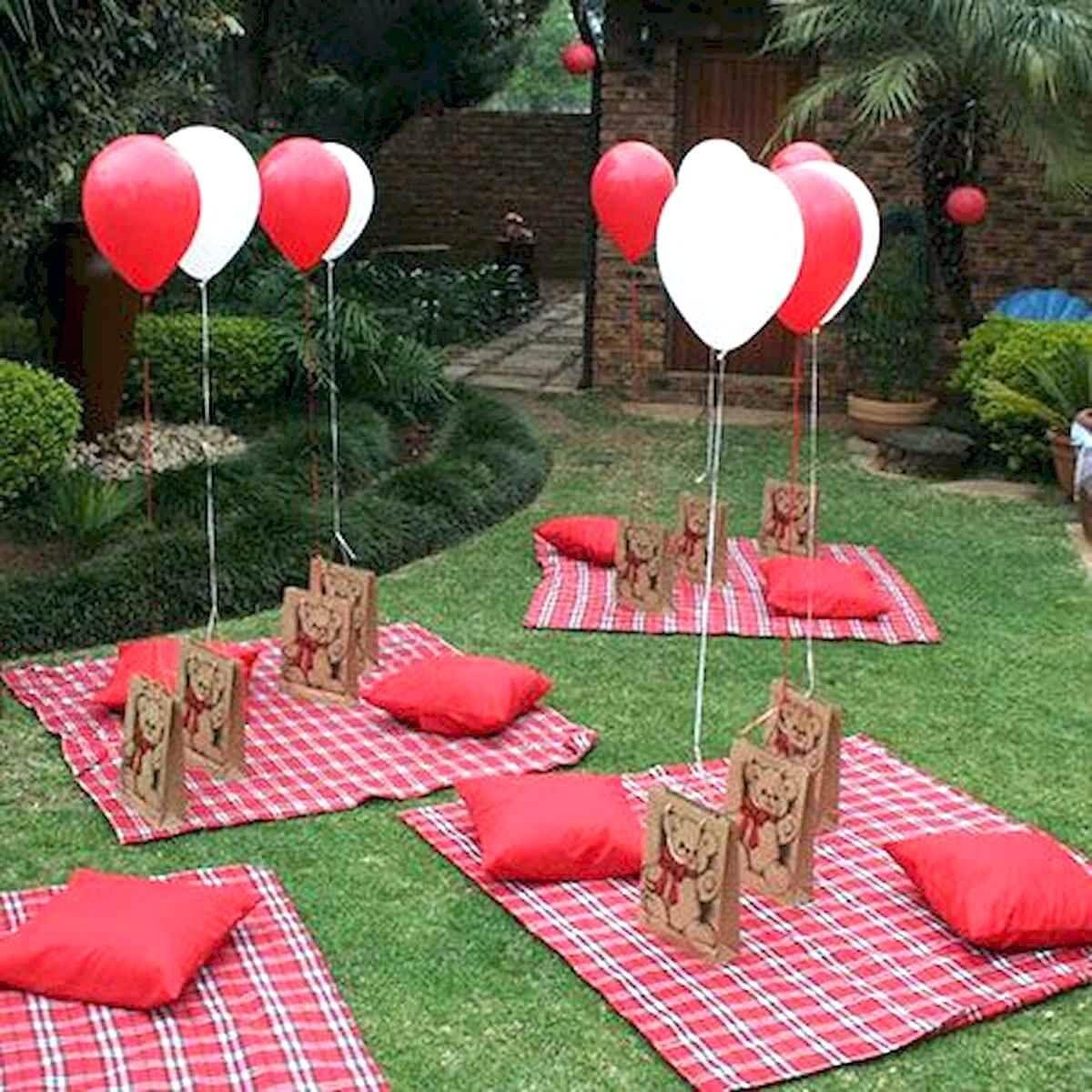 30 Adorably Elegant Valentines Day Decorations Ideas Picnic Birthday Party Teddy Bear Picnic Party Picnic Birthday