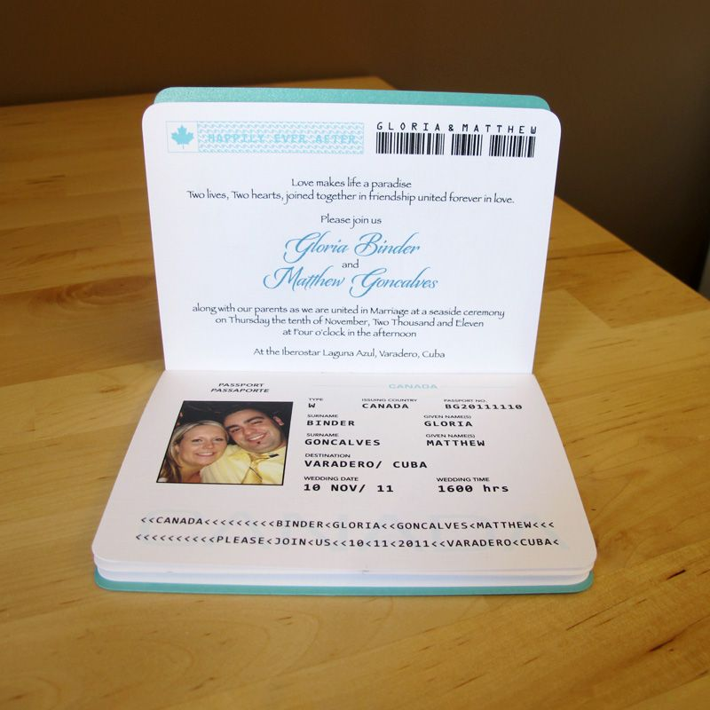 Awesome idea as were getting married abroad i was looking for a i love this passport invitation vs the plane tickets you often see it allows you to in more information for your guests such as transportation stopboris Images