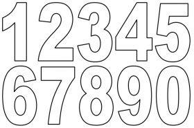 Zahlenschablonen Zum Ausdrucken Kostenlos 04 Zählen Schablonen