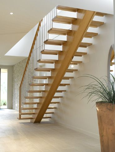 Single Stringer Stairs Google Search Stairs Design Stair | Wood Mono Stringer Stairs | Central | Arch | Hardwood | Glass | Timber