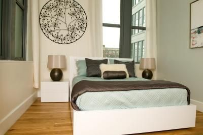 Small Room Double Bed Layout Ideas narrow bedroom layout ideas | twin, the wall and beds