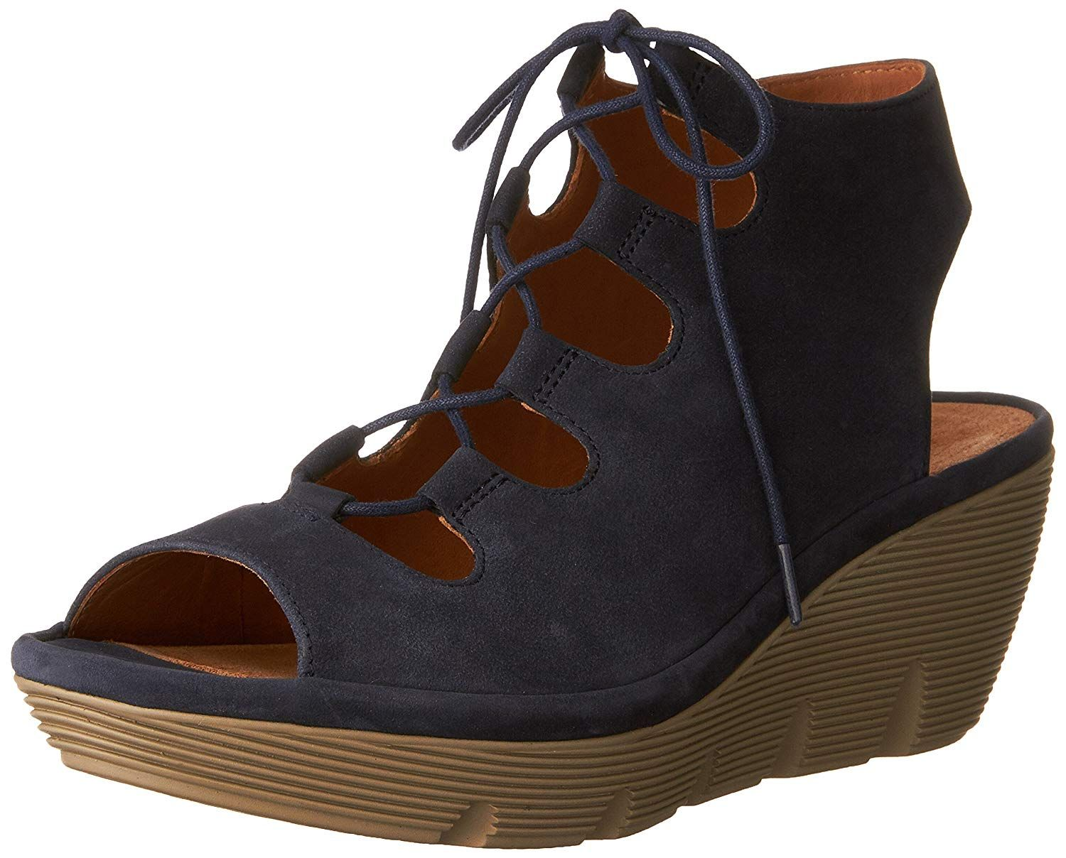 4d75aafe17a Clarks Womens Clarene Grace Suede Open Toe Casual Platform Sandals --  Thanks for seeing our picture. (This is an affiliate link)   ...