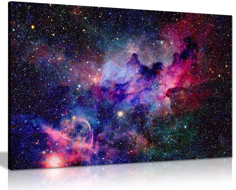 Top Anime Galaxy Art Canvas Wall Decor Space Watercolor Watercolor Galaxy Anime Galaxy
