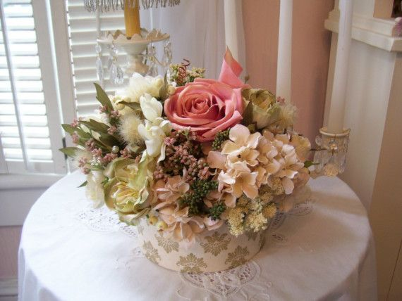 Shabby Chic Dried Flower Arrangements Ideas Beautiful Shabby Chic Garden Silk Flow Flower Arrangements Valentine Flower Arrangements Silk Flower Arrangements