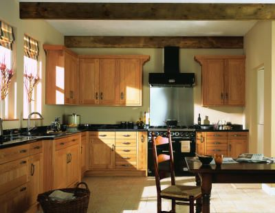 Love The Warm Wood Tone Cupboards With The Gentle Green