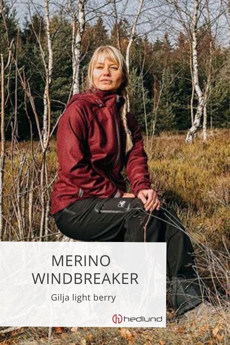 Damen Merino Windbreaker - Gilja light berry   Outdoor ...