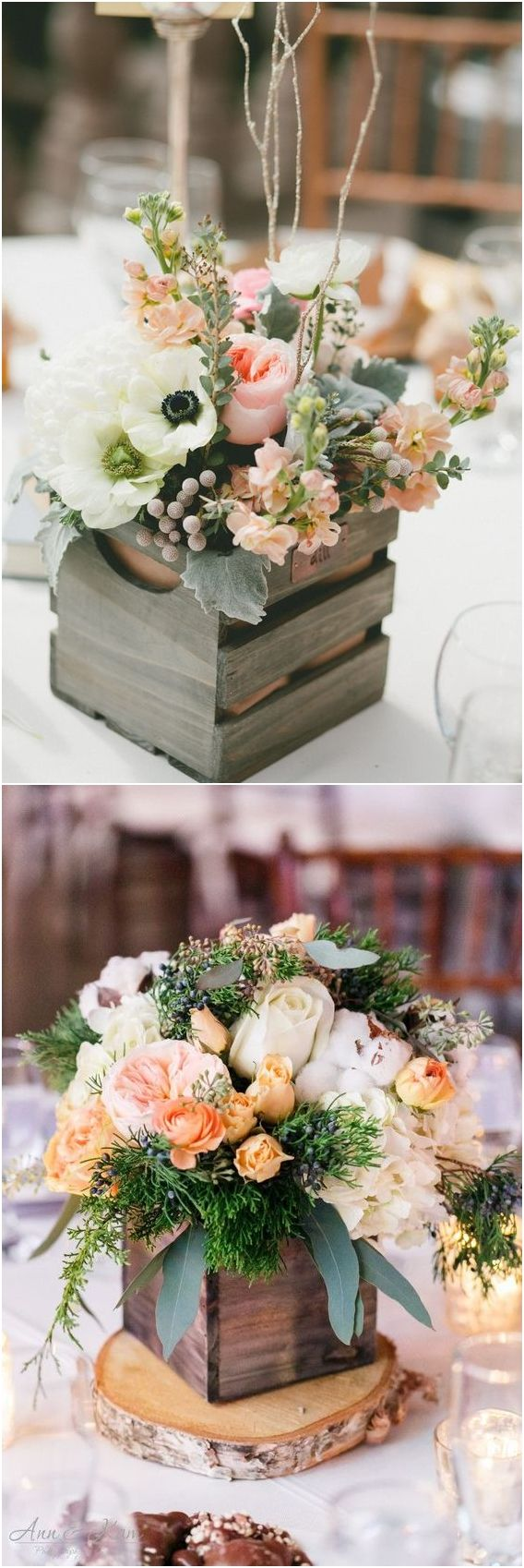 Rustic Woodsy Wedding Trend 2018 Wooden Crates Flowers