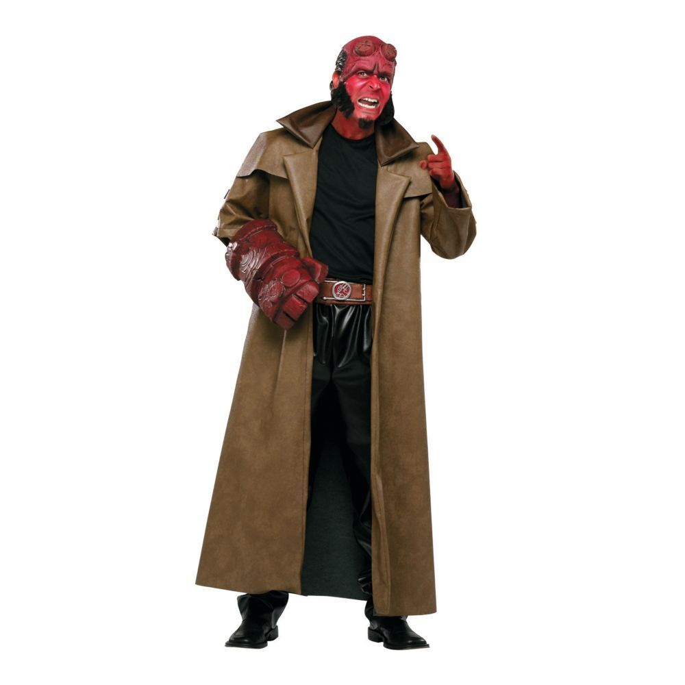 full hellboy halloween costume for men large