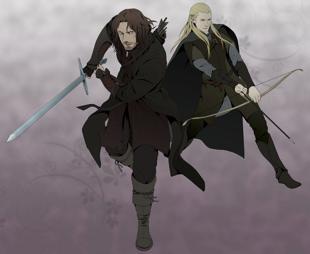 Aragorn and Legolas LOTR by *doubleleaf | lotr and the hobbit ...