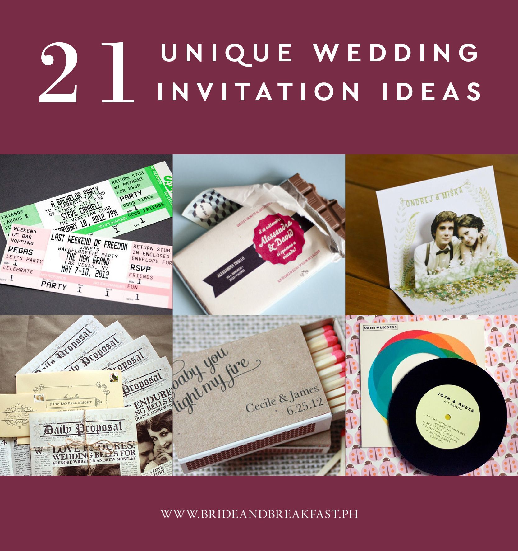 Unique Wedding Invitation Designs You Have To See  Unique