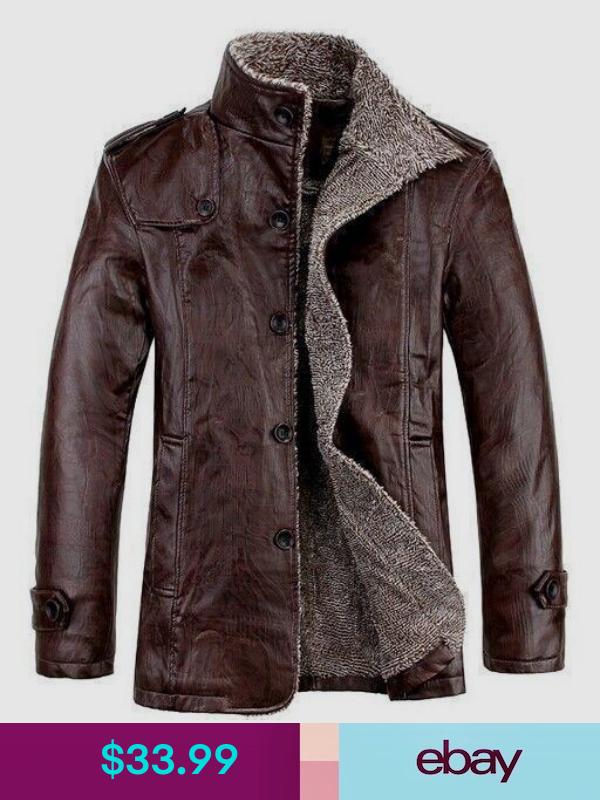 Men Jackets Trench Pu Leather Coat Fur Lining Parka Winter Fleece Coat Sz M 8xl Moda Ropa Hombre Chaqueta De Cuero Hombre Ropa