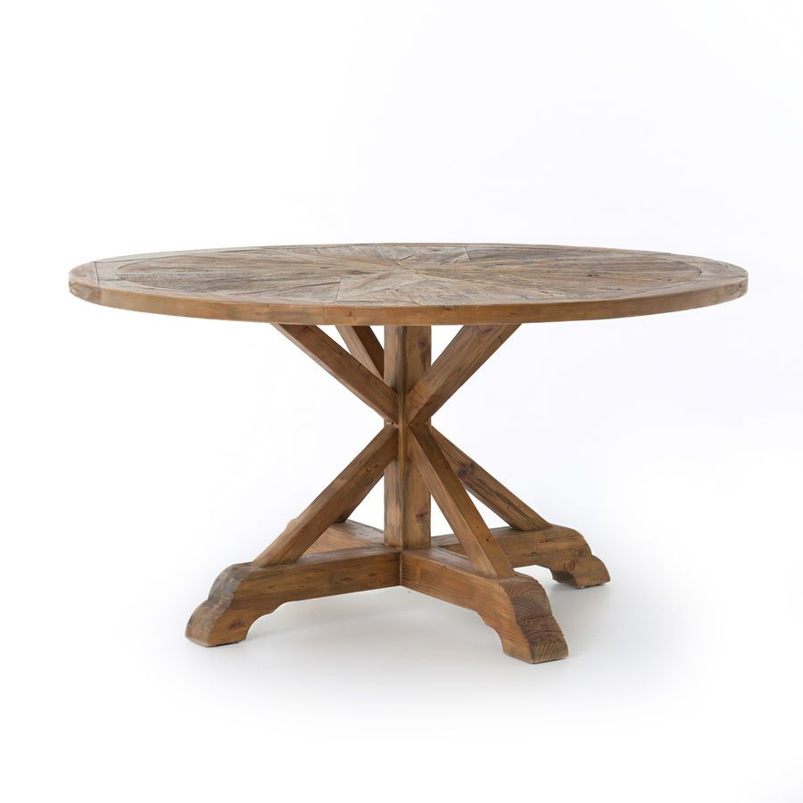 Opio Round Dining Table 59 Bleached Pin Scout Nimble Dining Table In Kitchen Round Dining Table Dining Table