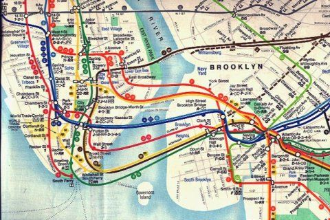 Nyc Subway Map Brooklyn.Brooklyn Subway Courtesy Of Gothamist This Old Version Of The Nyc