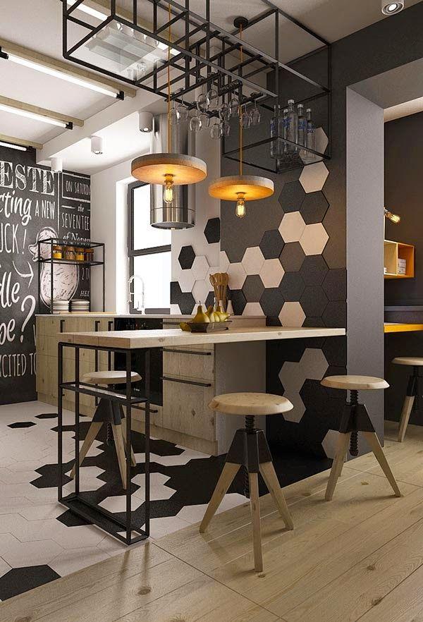 Un pequeño apartamento con toques industriales · A small, industrial ...