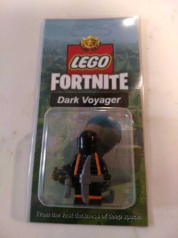 New Lego Custom Dark Voyager Minifig Fortnite Battle