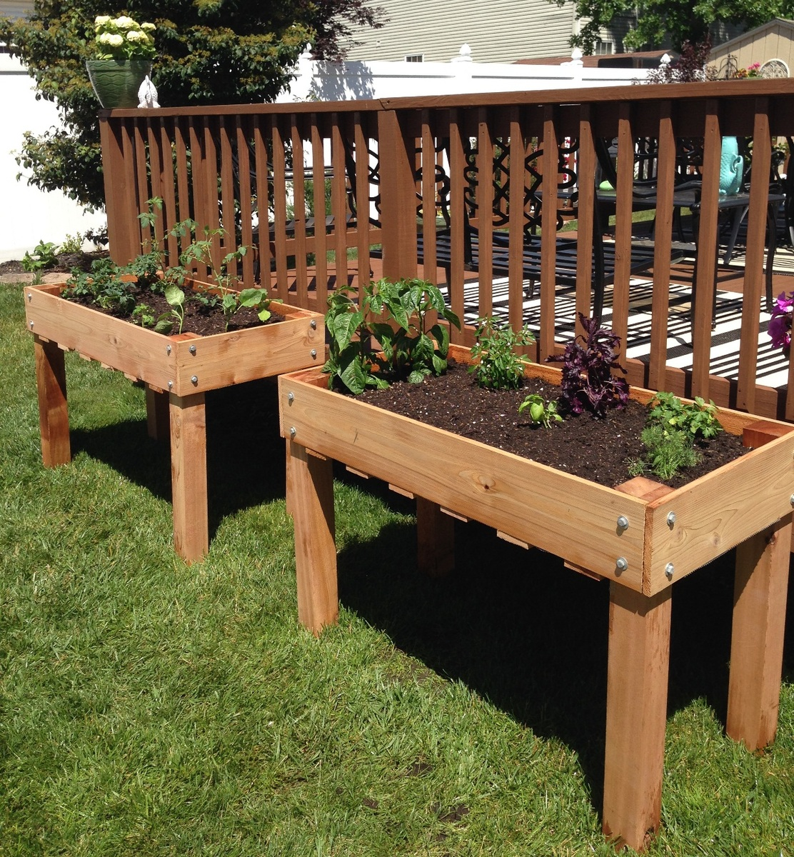 New counter height planters in use Ana White Garden