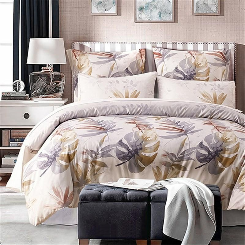 Palace Royal 2/3/4Pcs King Queen Size Duvet Cover Bed