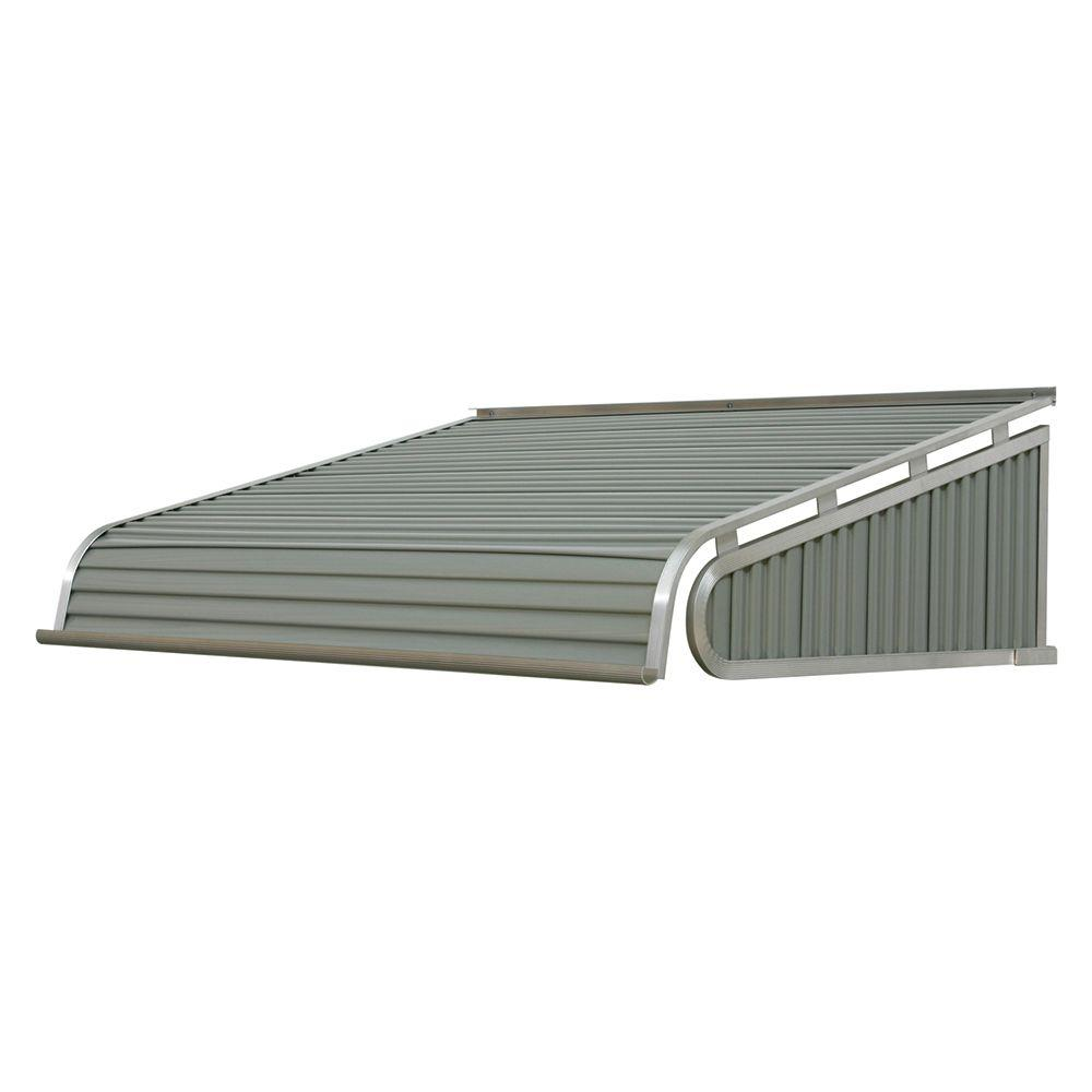 Nuimage Awnings 6 Ft 1500 Series Door Canopy Aluminum Awning 12in H X 42 In D In Graystone K150707245 The Home Depot In 2020 Aluminum Awnings Door Canopy Awning
