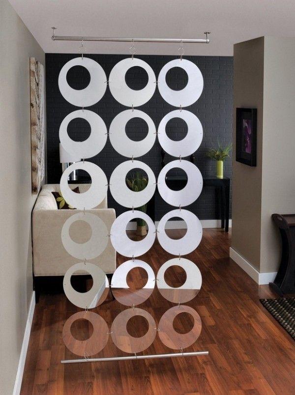 Kreisförmige Motive Raumteiler Design-Ideen Wohnzimmer - raumteiler ideen wohnzimmer