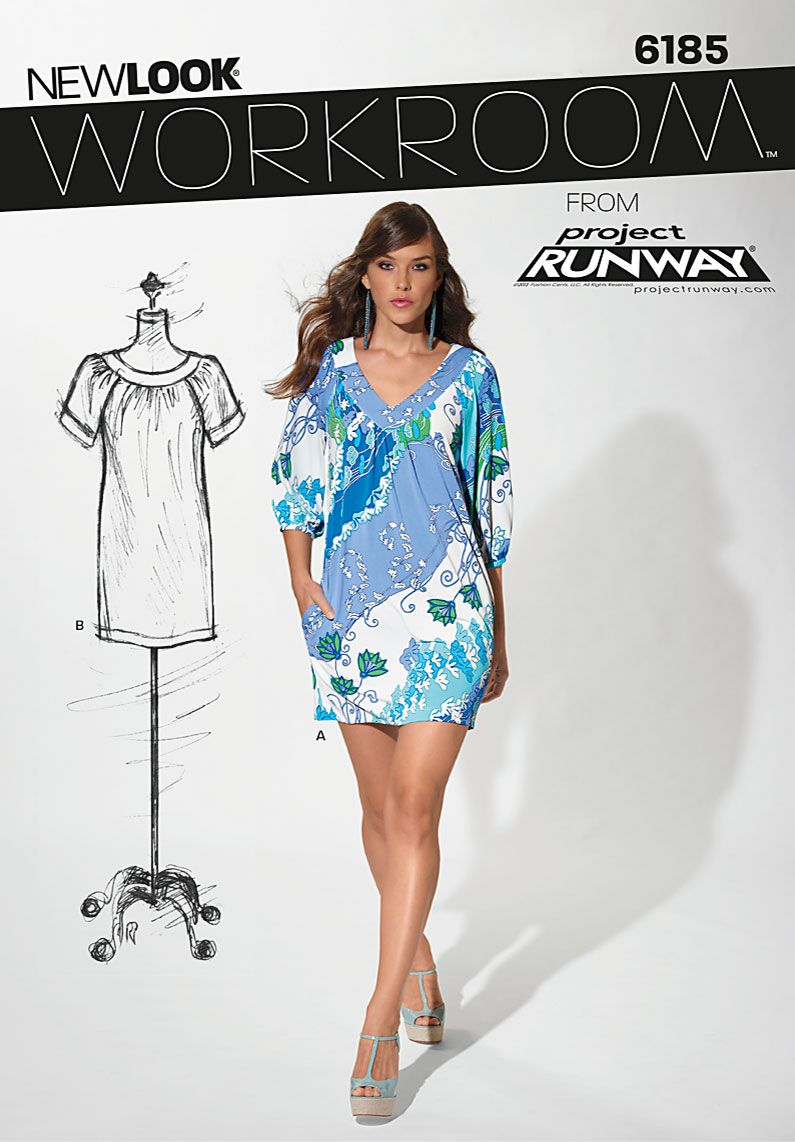 New Look 6185 - with sleeves in chiffon maybe | vestidos y moldes ...