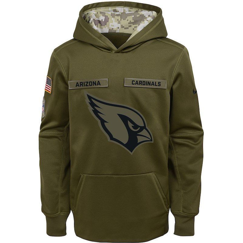 brand new 46d33 9a072 Arizona Cardinals Nike Youth Salute to Service Pullover ...